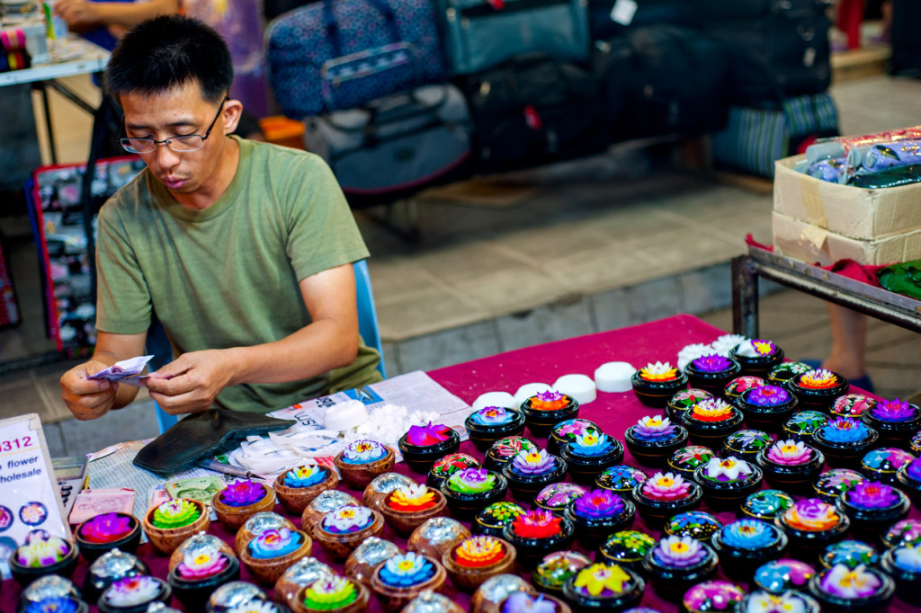 Night Bazaar Vendor, Chiang Mai