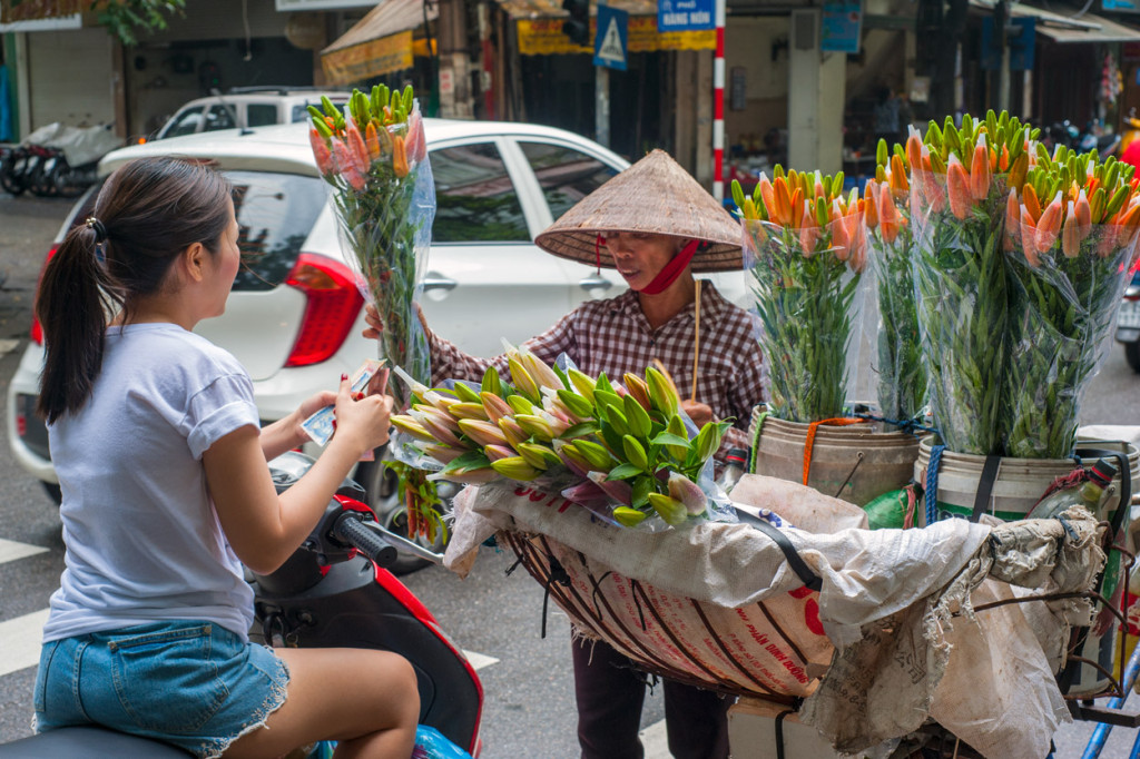 Florist on a Bike, Hanoi