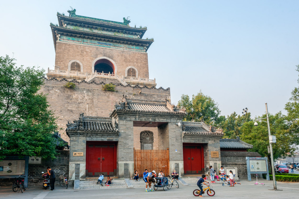 Beijing Bell Tower in Summer