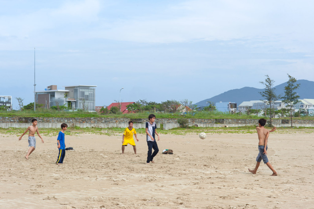Beach Football, Danang, Vietnam