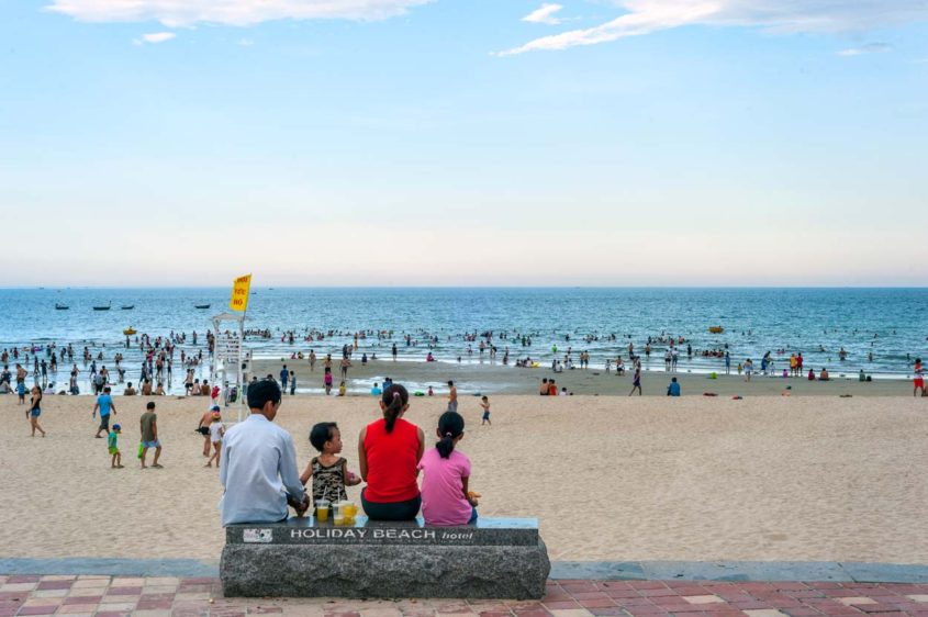 Family at the Beach, Da Nang, Vietnam
