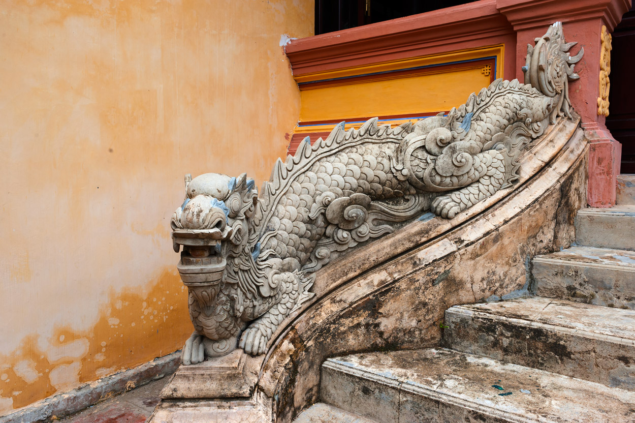 Decorative dragon in the Imperial City of Hue