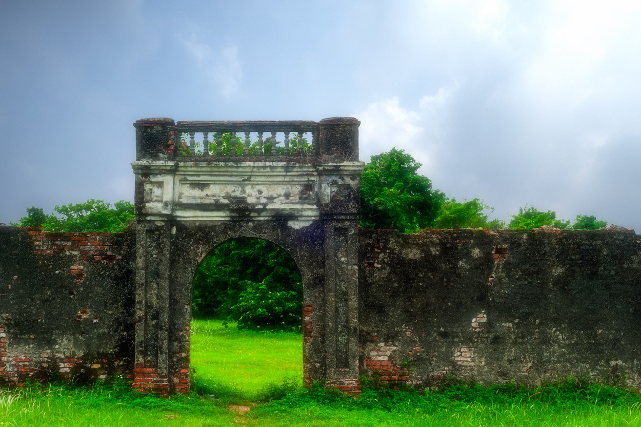 A melancholy arch within the grounds of the rundown but still magnificent Imperial Citadel in Hue.